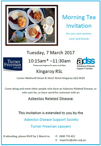 Kingaroy Asbestos Morning Tea | Turner Freeman Lawyers QLD