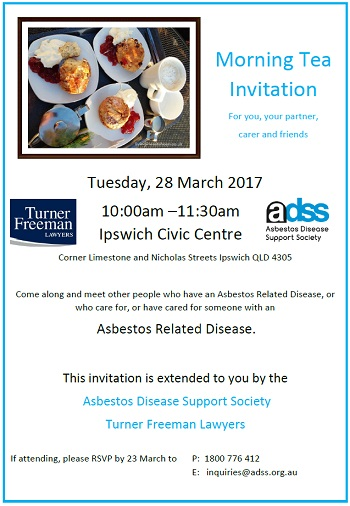 Ipswich Asbestos Morning tea | Turner Freeman Lawyers QLD