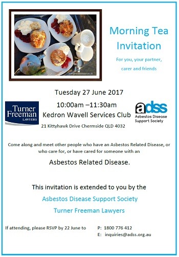 Chermside Asbestos Morning tea | Turner Freeman Lawyers QLD