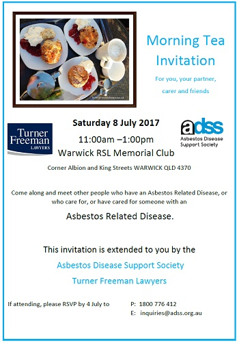 Warwick asbestos morning tea | Turner Freeman Lawyers