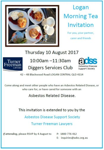 Logan Central Asbestos Diseases Morning Tea | Turner Freeman Lawyers QLD