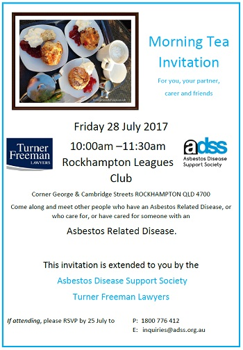 Asbestos morning tea in Rockhampton | Turner Freeman Lawyers QLD