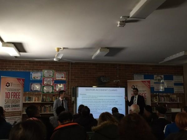 Nathan and Richard presenting at the seminar   Turner Freeman Lawyers