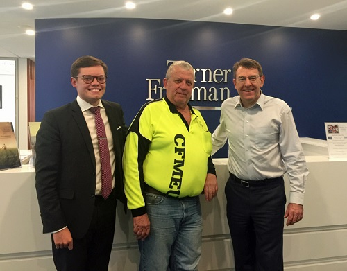 Thady, Andrew and Ian from CMFEU | Turner Freeman Lawyers QLD