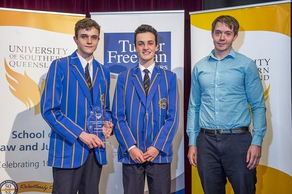 USQ and Turner Freeman mooting competition winners in Toowoomba