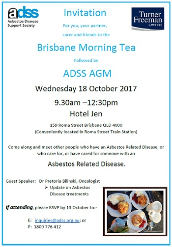 Asbestos morning tea in Brisbane | Turner Freeman Lawyers QLD