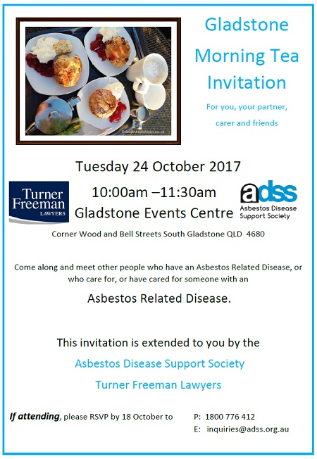 Turner Freeman Lawyers Asbestos diseases morning tea Gladstone