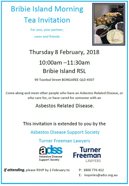 Asbestos Disease Society and Turner Freeman Lawyers Asbestos Seminar in Bribie Island