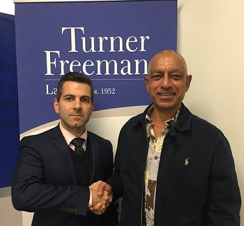Nathan Edwards Bonello with motor vehicle client in Campbelltown | Turner Freeman Lawyers