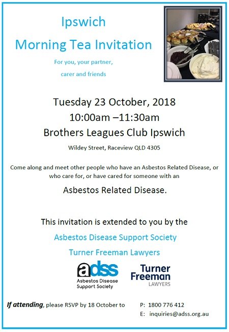 Ipswich asbestos morning tea | Turner Freeman Lawyers
