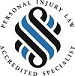 Personal Injury Law Accredited Specialist logo | Turner Freeman Lawyers