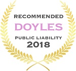 Doyles Guides award recipient | Public Liability Lawyers 2018