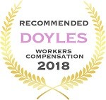 Doyles Guides award recipient | Workers Compensation Lawyers 2018