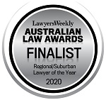 Ciaran Ehrich named a Finalist in the Regional/Suburban Lawyer of Year category in the Australian Law Awards for 2020 | Turner Freeman Lawyers