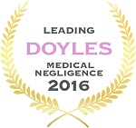 Doyles Guides award recipient | Medical Negligence Lawyers 2016