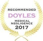Doyles Guides award recipient | Medical Negligence Lawyers 2017