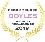 Doyles Guides award recipient | Medical Negligence Lawyers 2018