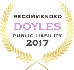 Doyles Guides award recipient | Public Liability Lawyers 2017