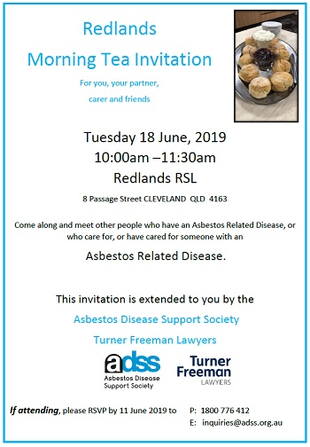 Redlands asbestos morning tea in Cleveland | Turner Freeman Lawyers
