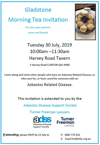 Asbestos morning tea in Gladstone | Turner Freeman Lawyers