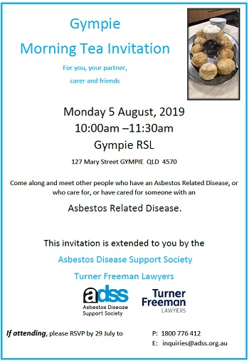 Turner Freeman Lawyers asbestos morning tea in Gympie