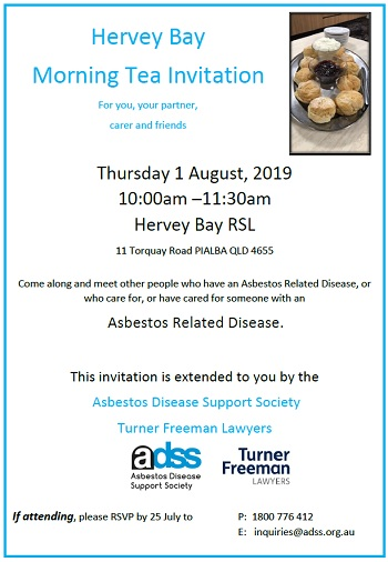 Asbestos morning tea hervey bay | Turner Freeman Lawyers