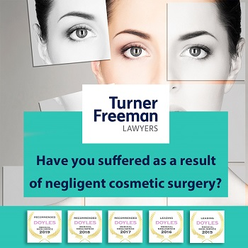 botched negligent cosmetic surgery claims | Turner Freeman Lawyers