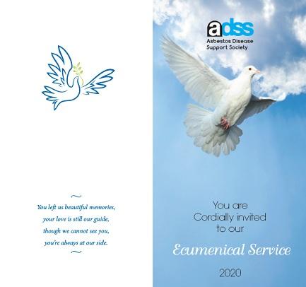 2020 Asbestos Support Society ecumenical service invite | Turner Freeman Lawyers